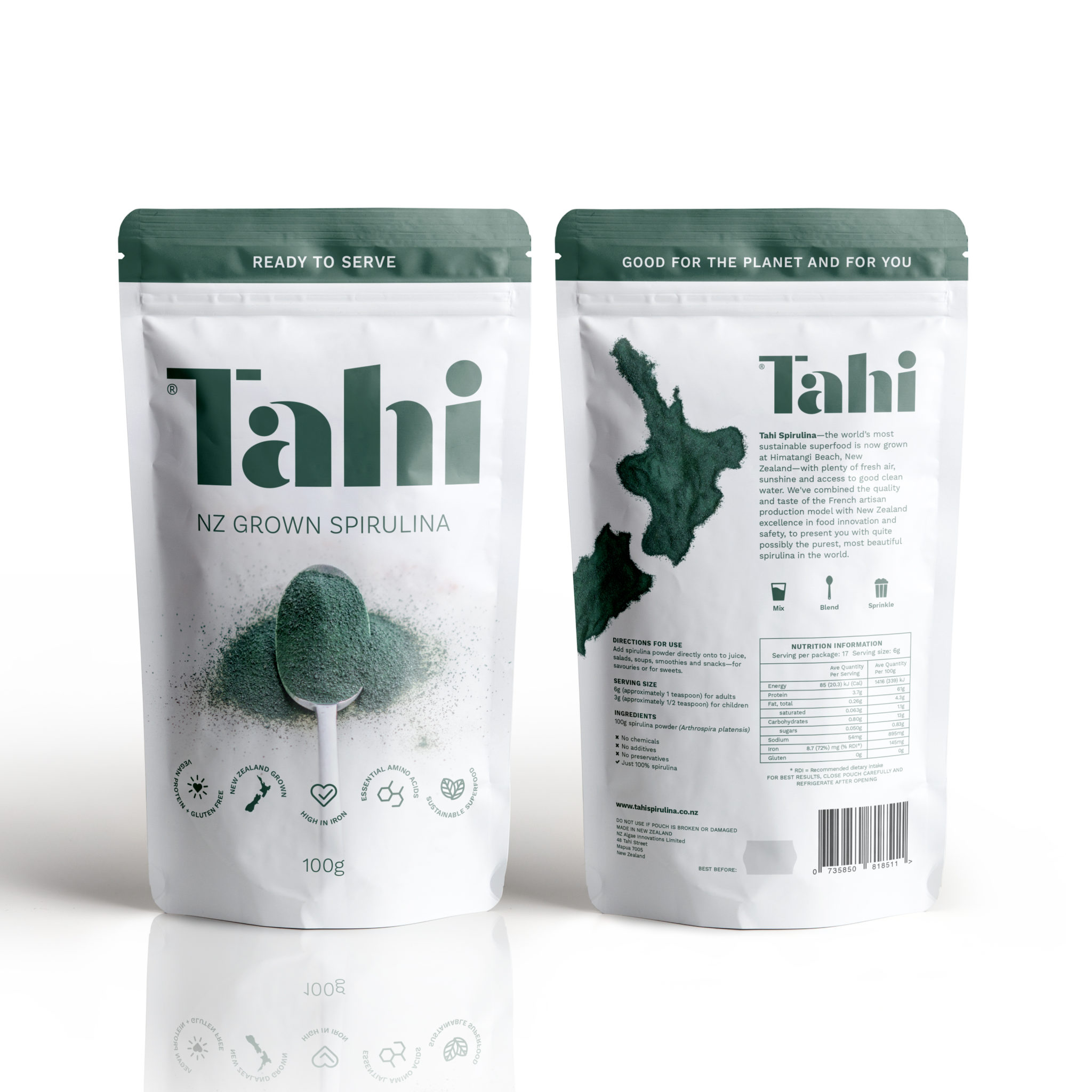 Tahi Spirulina is now available for worldwide delivery via HealthPost