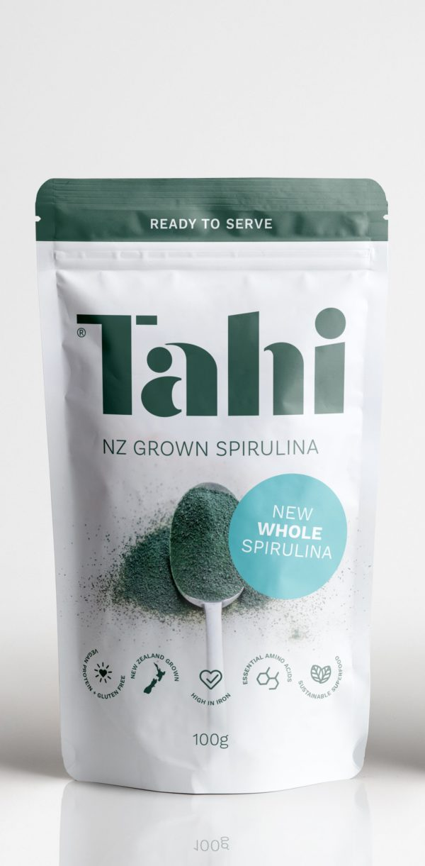 Pouch of Tahi whole spirulina sprinkles